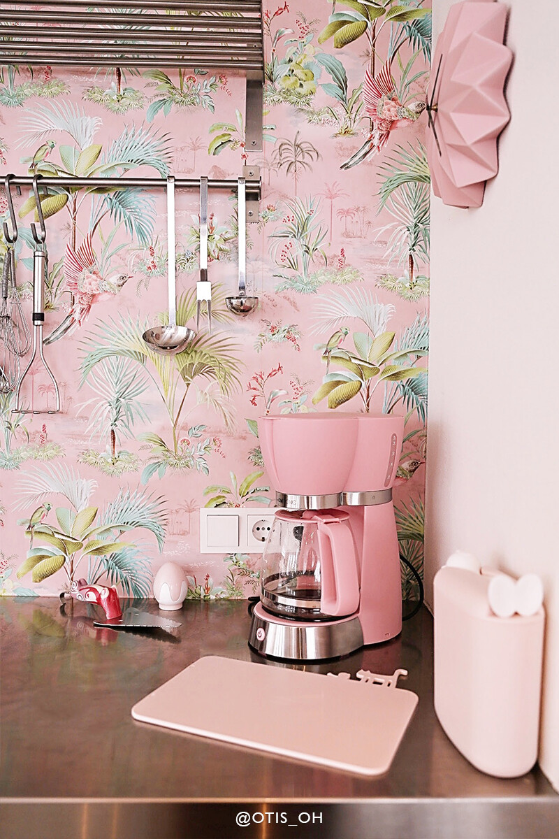 Color Relation Product Pip Studio Palm Scene Wallpaper Pink