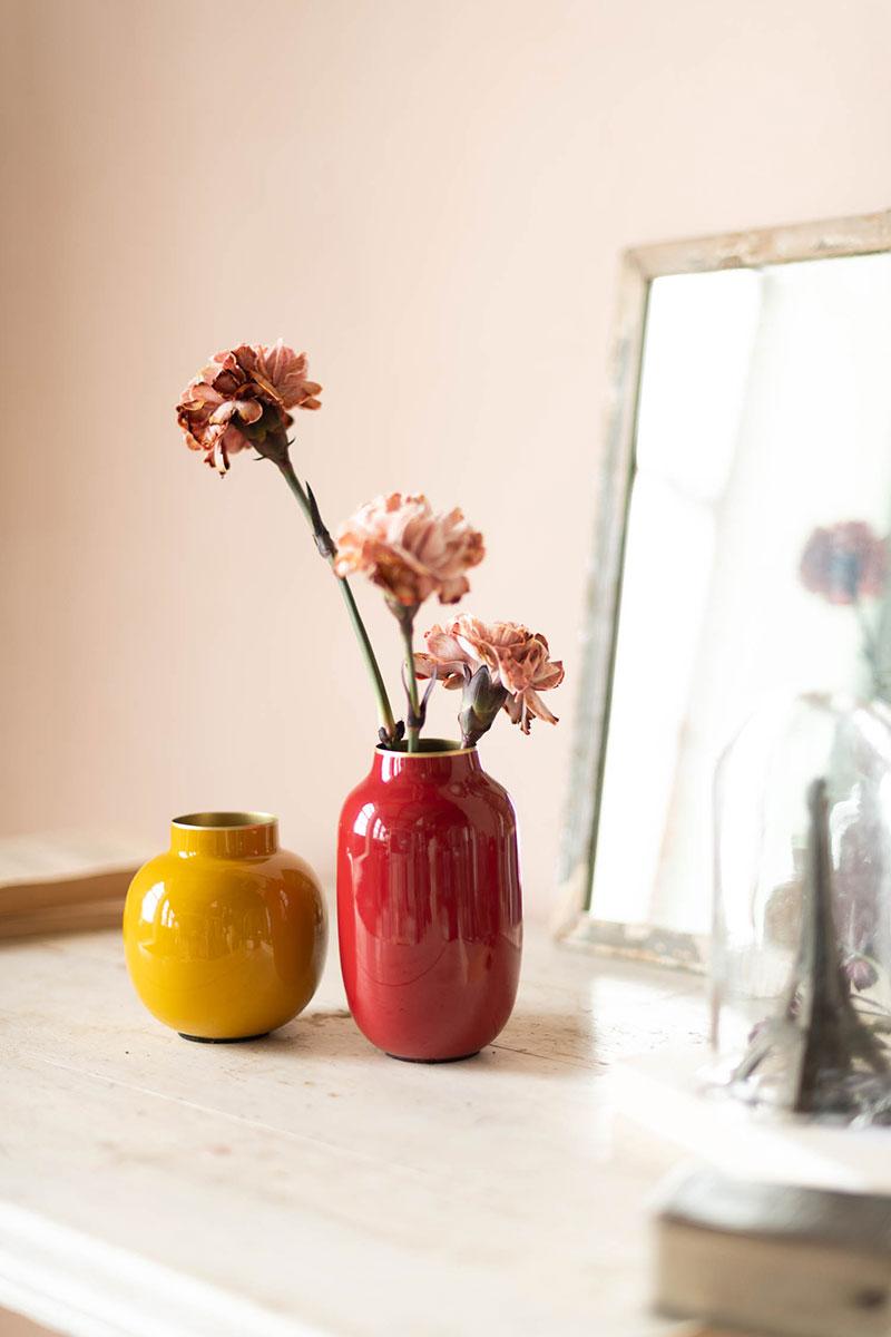Color Relation Product Set Mini Vazen Rood & Geel
