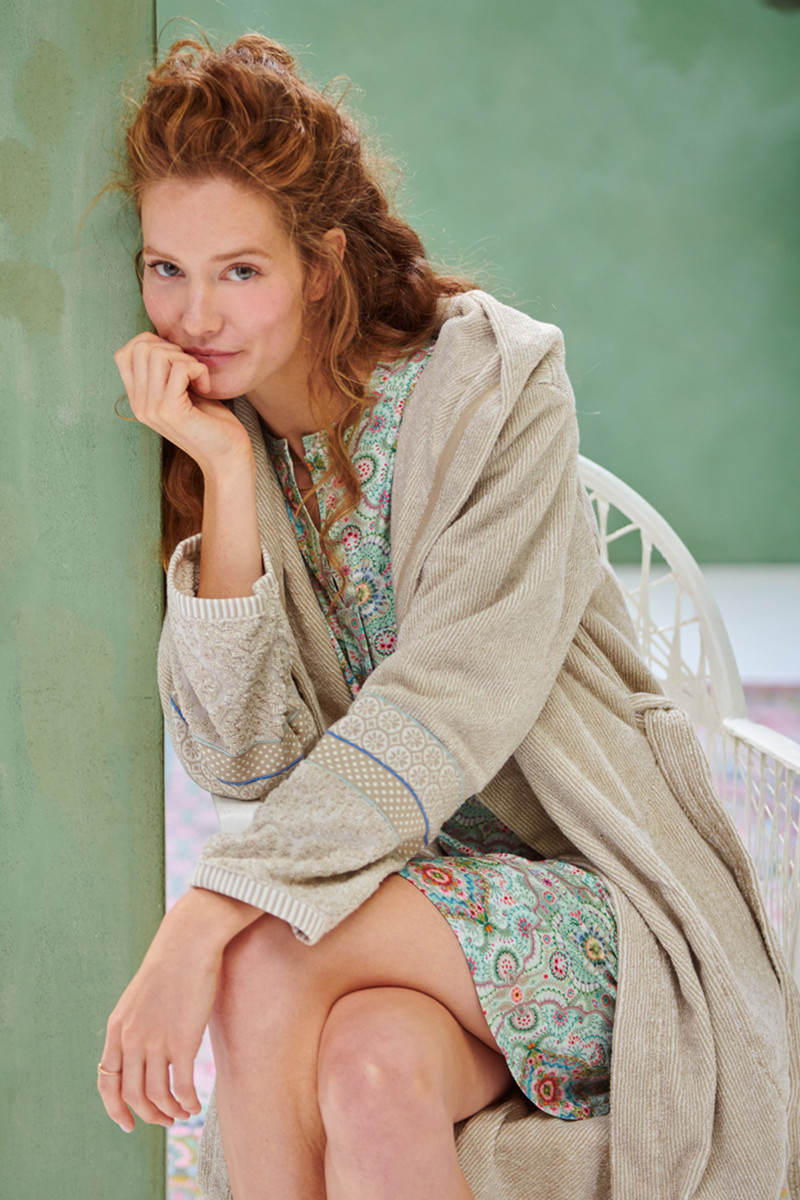 Color Relation Product Bathrobe Soft Zellige Khaki