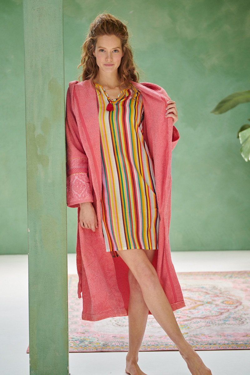 Color Relation Product Bathrobe Soft Zellige Coral