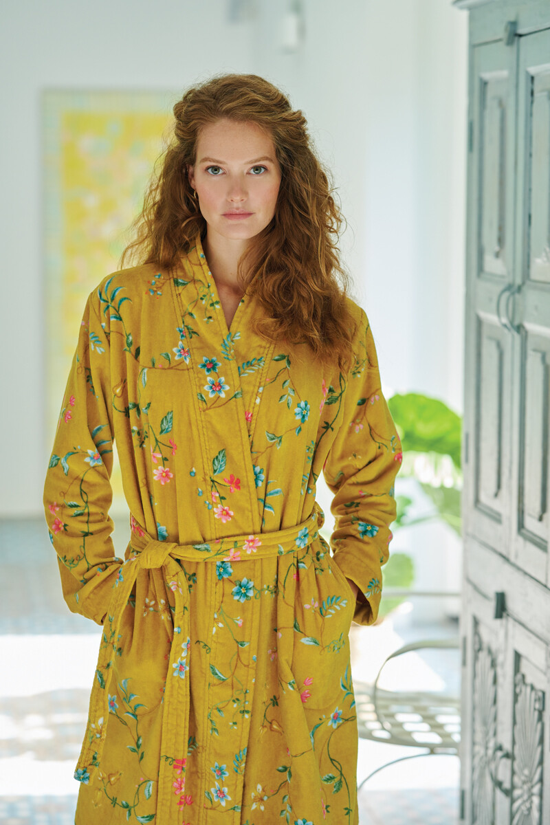 Color Relation Product Bathrobe Les Fleurs Yellow