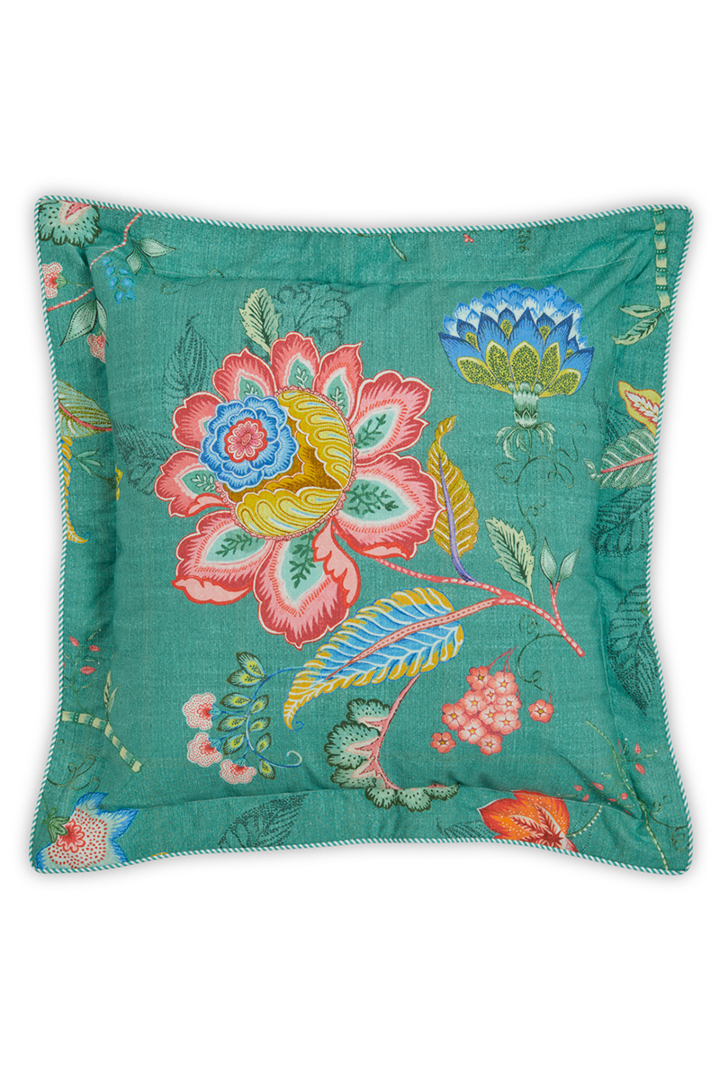 Color Relation Product Cushion square Jambo Flower Green