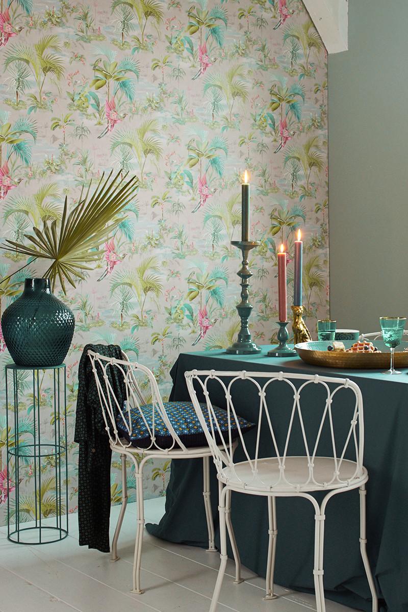 Color Relation Product Pip Studio Palm Scene Wallpaper Grey