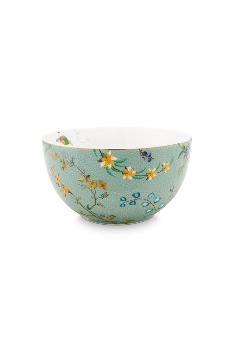 Color Relation Product Jolie Kom Flowers Blauw 12 cm