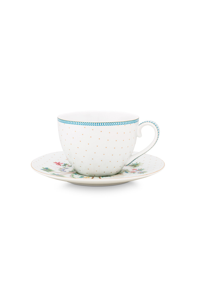 Color Relation Product Jolie Cup & Saucer Dots Gold