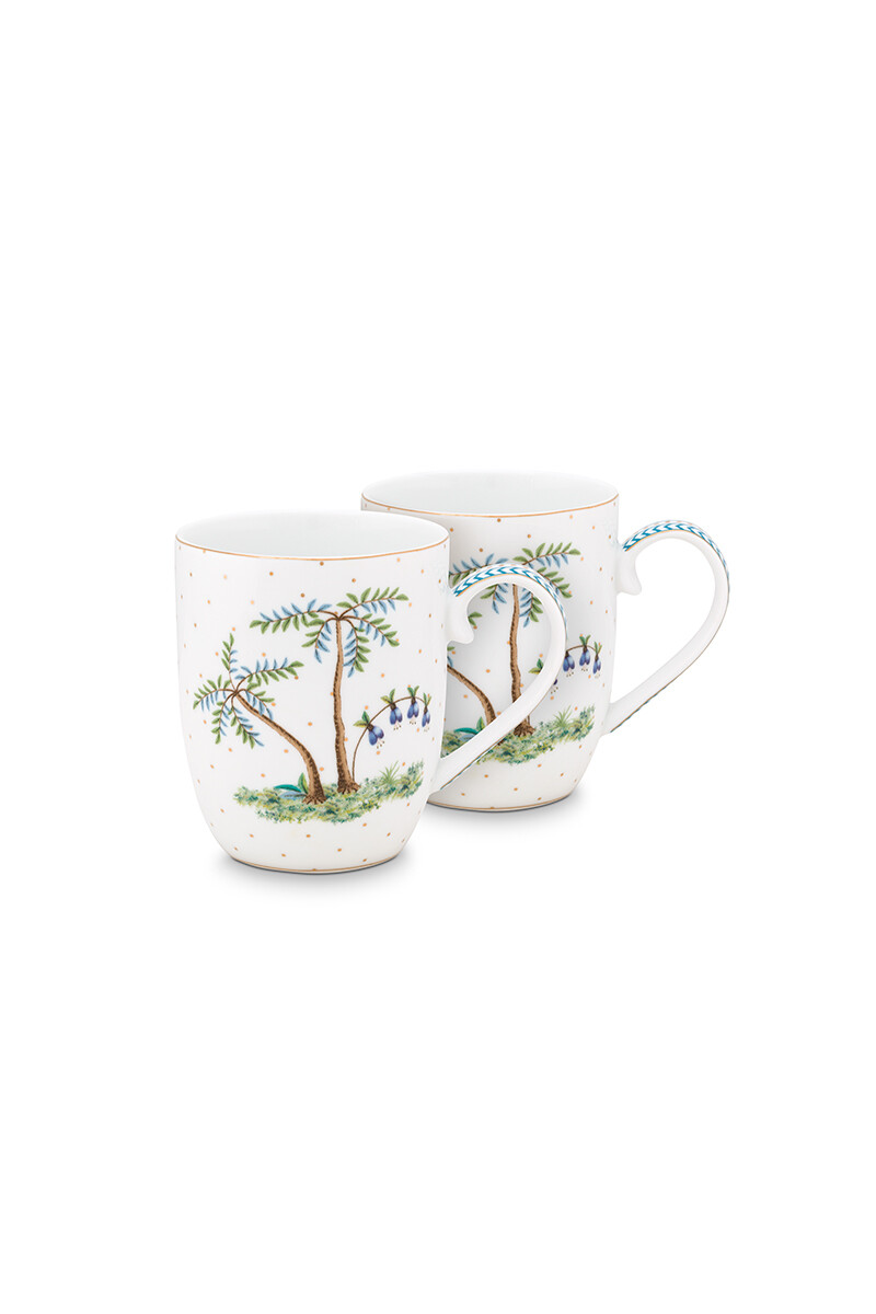 Color Relation Product Jolie Set/2 Mugs Small Dots Gold