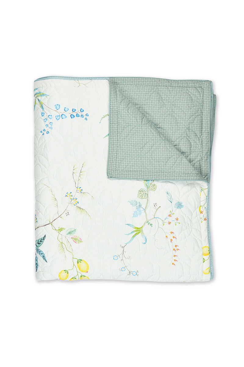 Color Relation Product Quilt Fleur Grandeur White