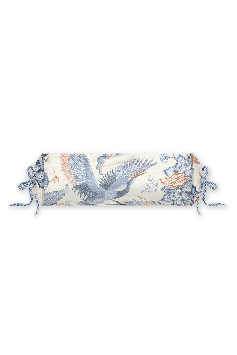 Color Relation Product Neck Roll Royal Birds Blue