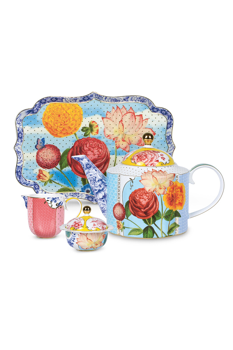 Color Relation Product Royal Multicoloured Thee Set/4