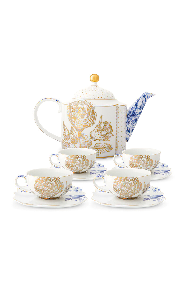 Color Relation Product Royal White Thee Set/5