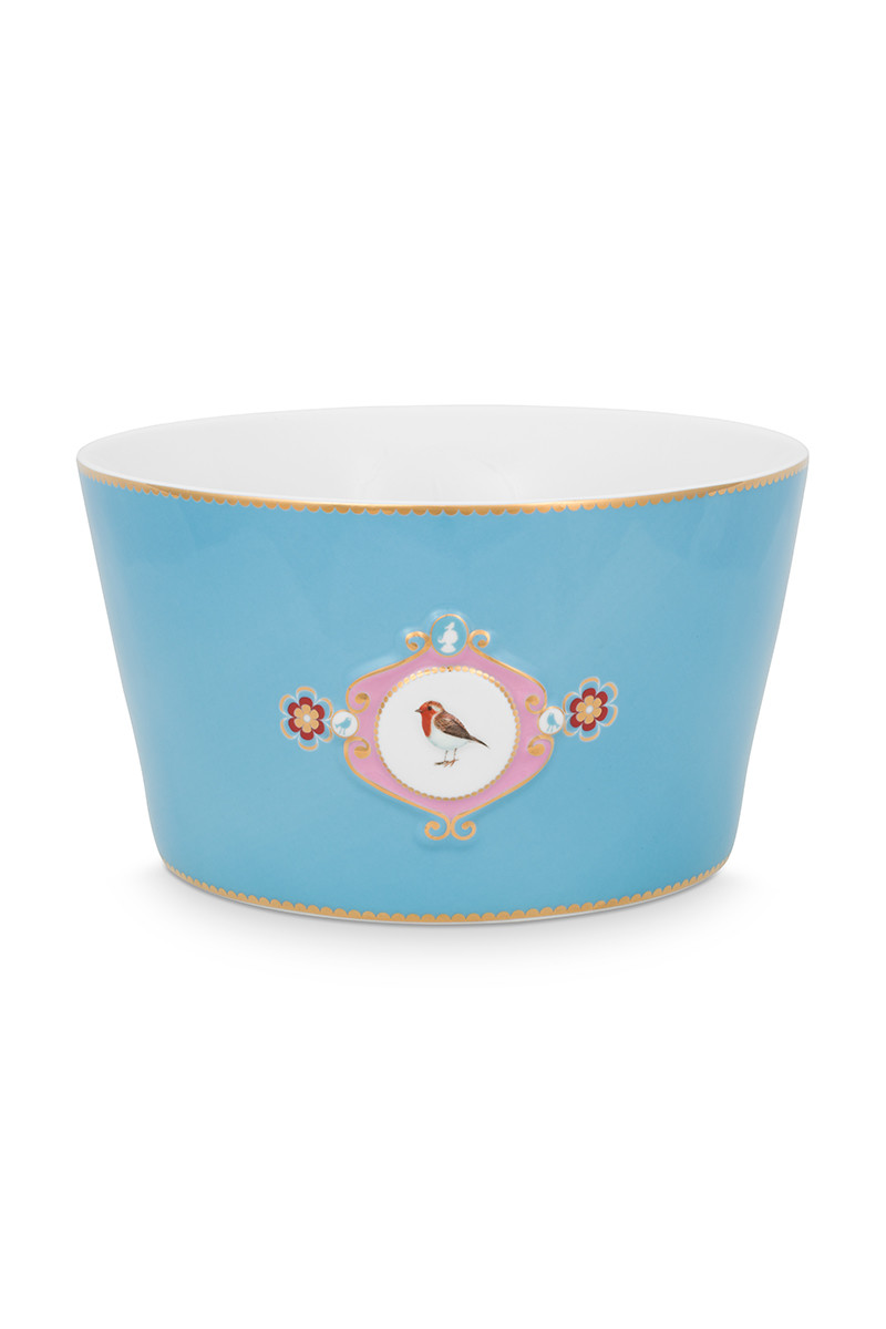 Color Relation Product Love Birds Bowl Blue 20 cm