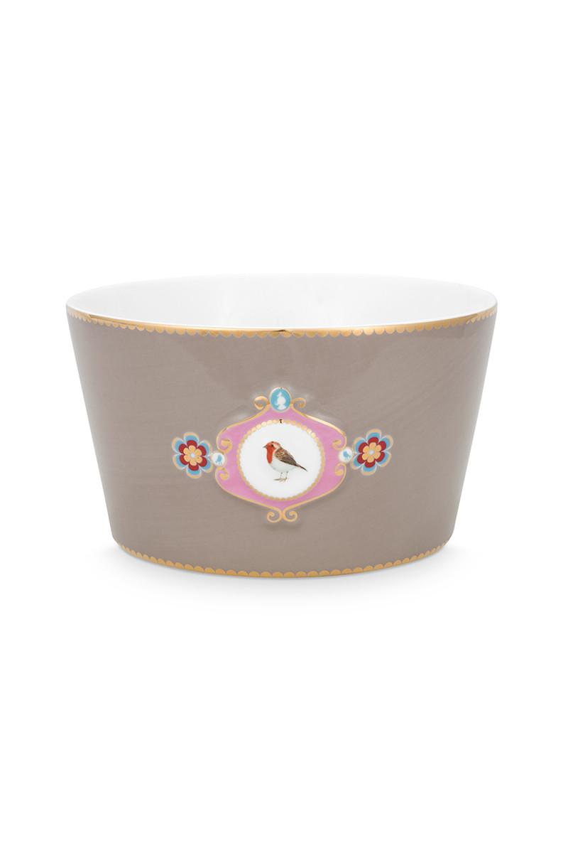 Color Relation Product Love Birds Bowl Khaki 15 cm