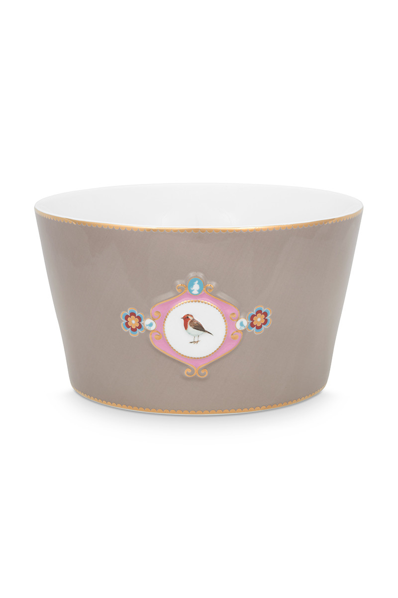 Color Relation Product Love Birds Bowl Khaki 20 cm