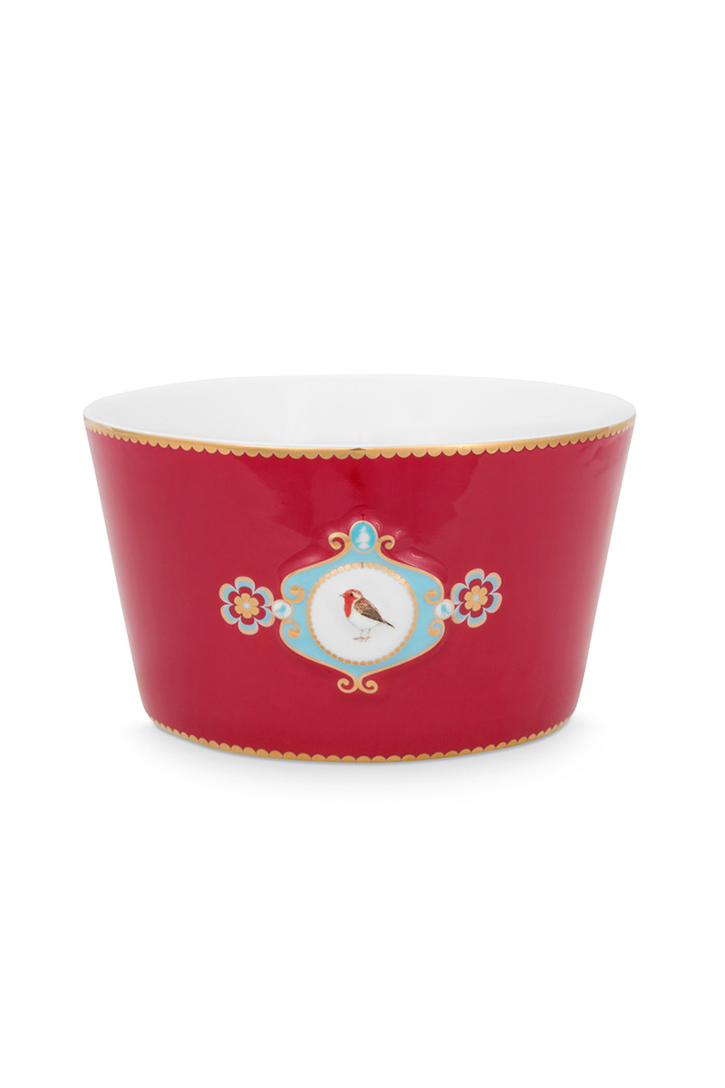 Color Relation Product Love Birds Bowl Red 15 cm
