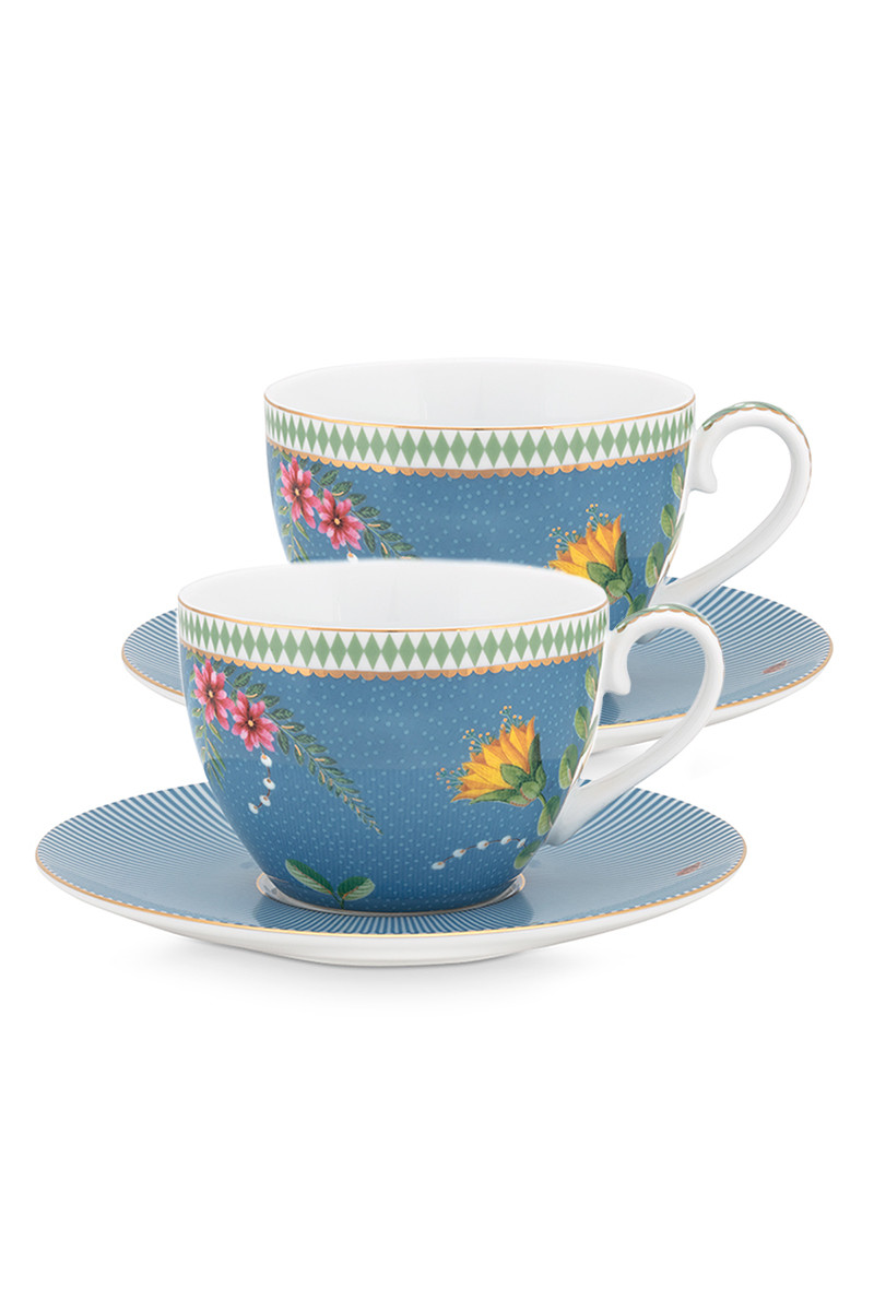 Color Relation Product La Majorelle Set of 2 Cups and Saucers Blue