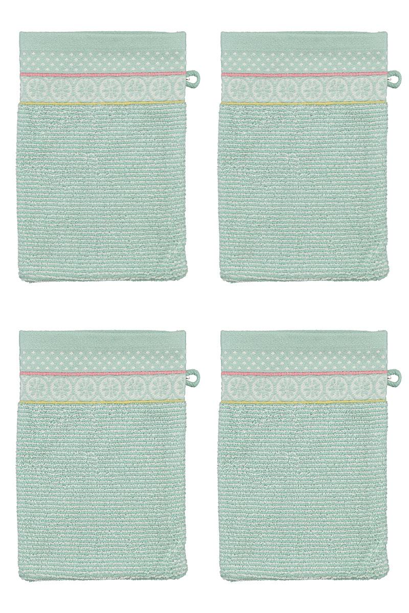 Color Relation Product Wash Cloth Set/4 Soft Zellige Blue 16x22 cm