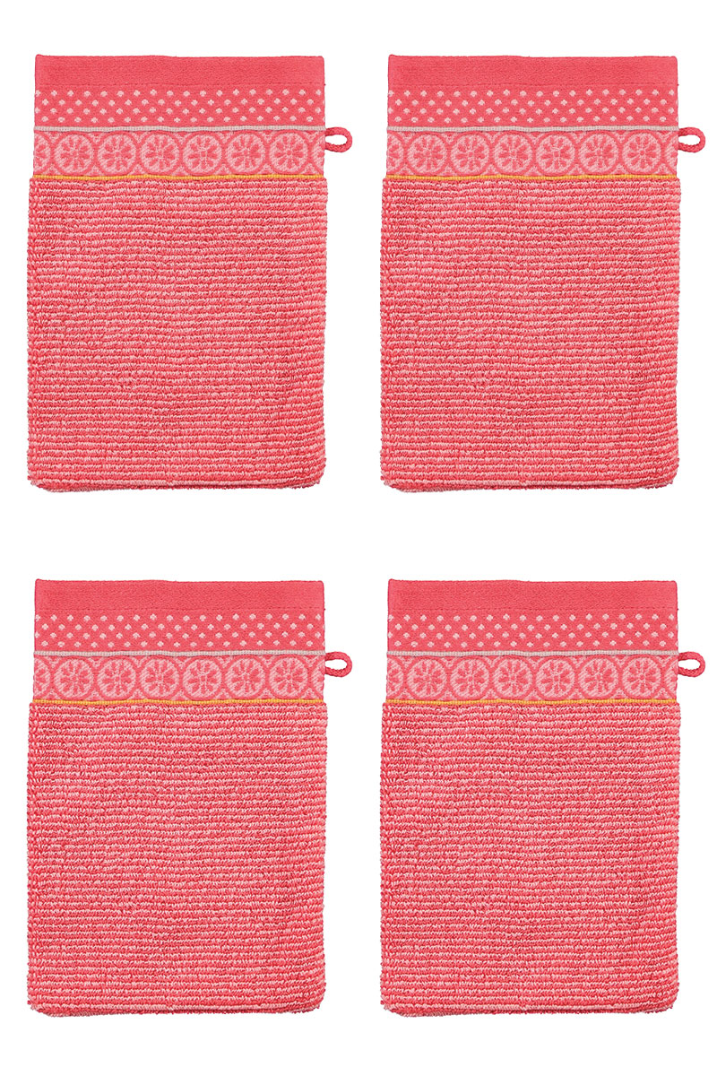 Color Relation Product Wash Cloth Set/4 Soft Zellige Coral 16x22 cm