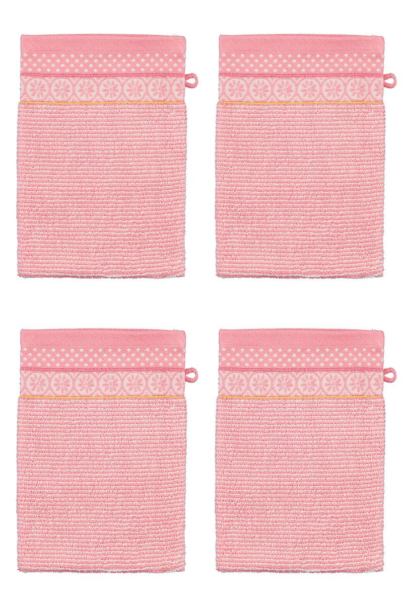 Color Relation Product Wash Cloth Set/4 Soft Zellige Pink 16x22 cm