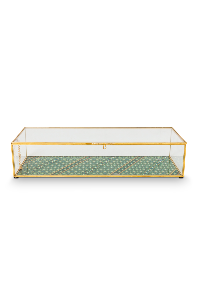 Color Relation Product Storage Box glass Gold L