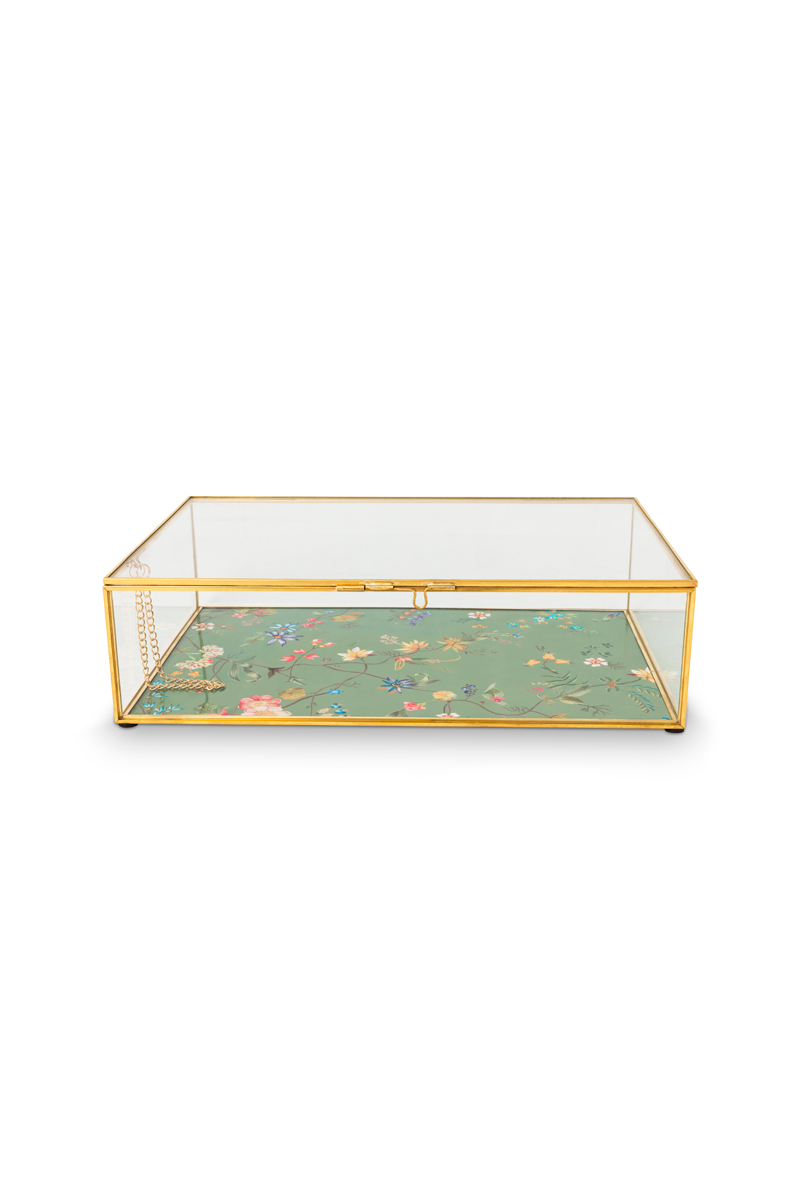 Color Relation Product Storage Box glass Gold M