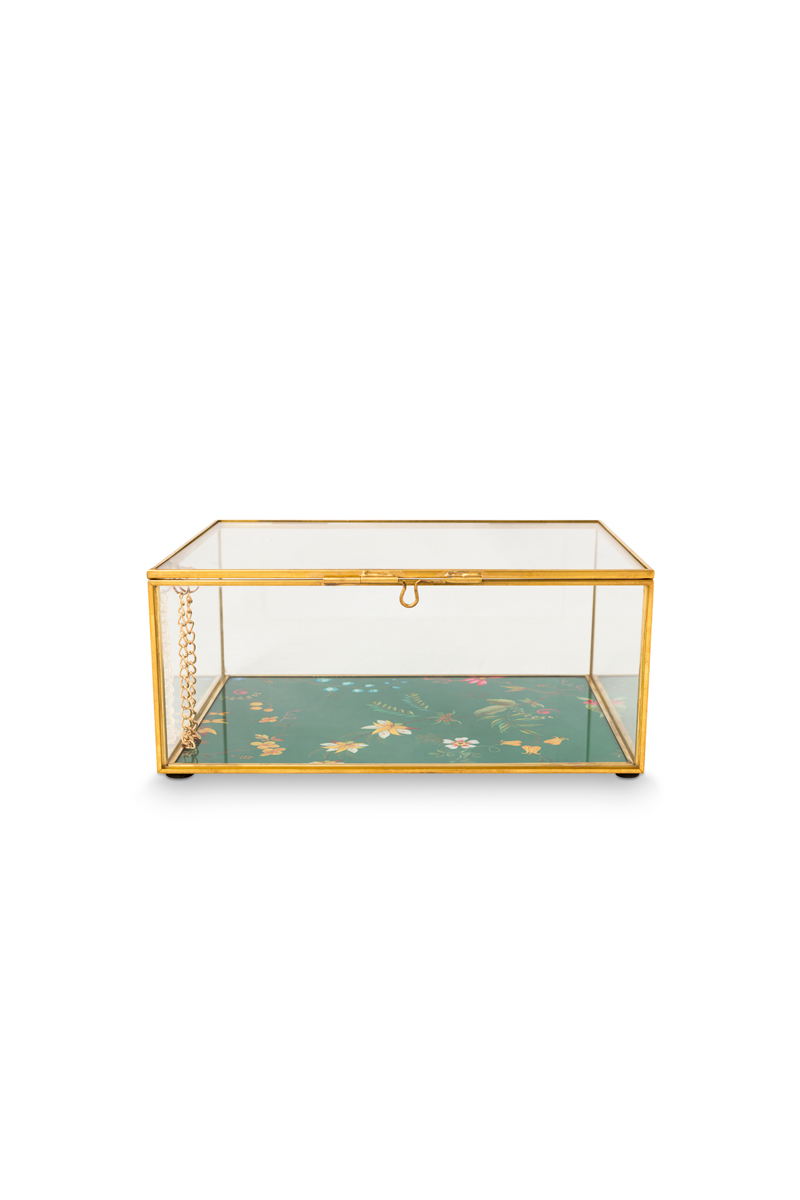 Color Relation Product Storage Box glass Gold S