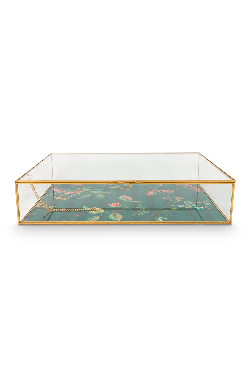 Color Relation Product Storage Box glass Gold XL