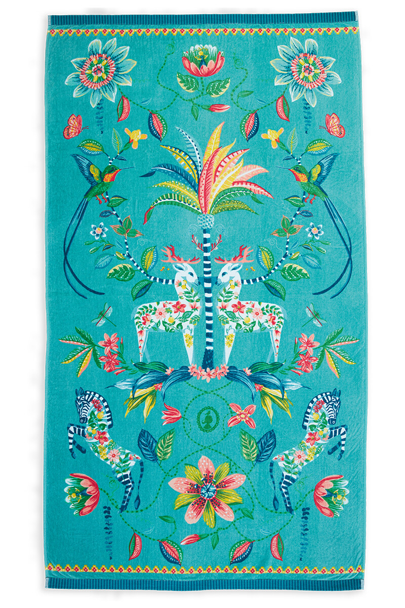 Color Relation Product Beach Towel Curio Blue