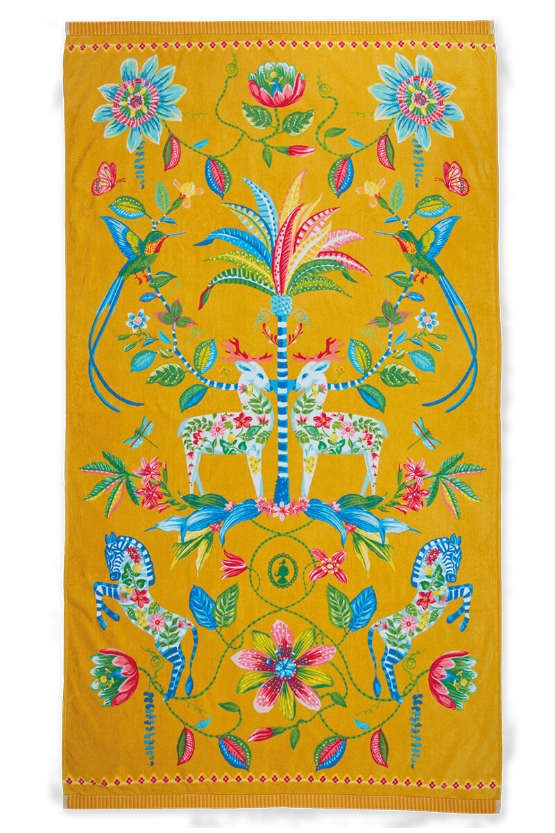 Color Relation Product Beach Towel Curio Yellow