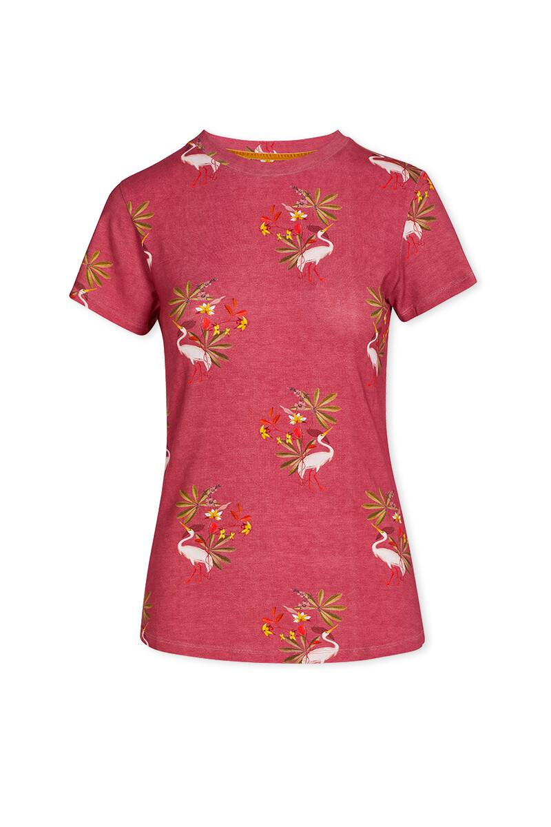 Color Relation Product Top Mit Kurze Ärmeln My Heron Rosa