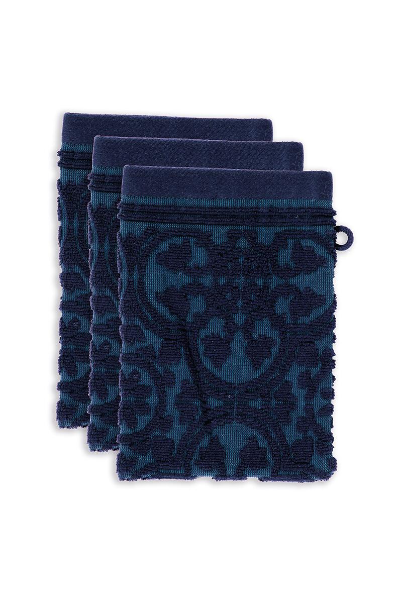 Color Relation Product Washcloth Set/3 Tile de Pip Dark Blue 30x50 cm