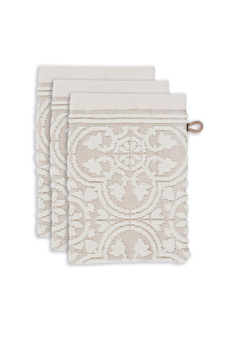 Color Relation Product Washcloth Set/3 Tile de Pip Khaki 16x22 cm