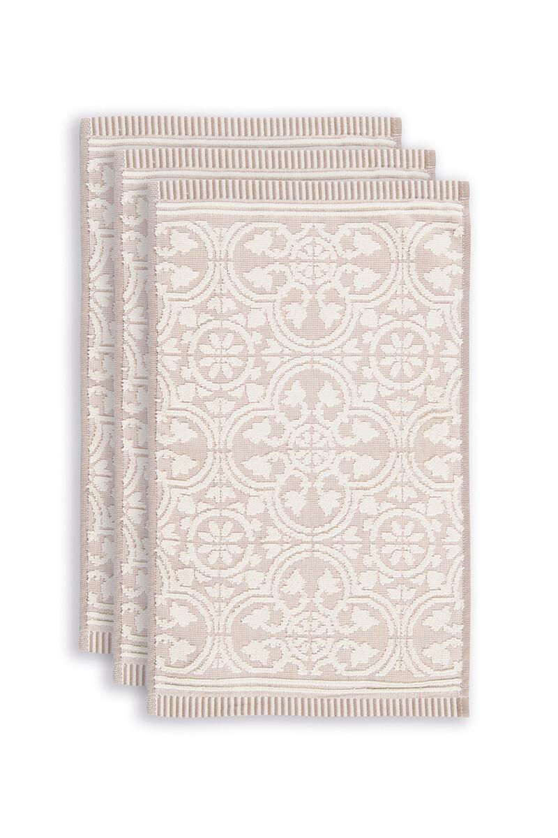 Color Relation Product Gastendoek Set/3 Tile de Pip Khaki 30x50 cm