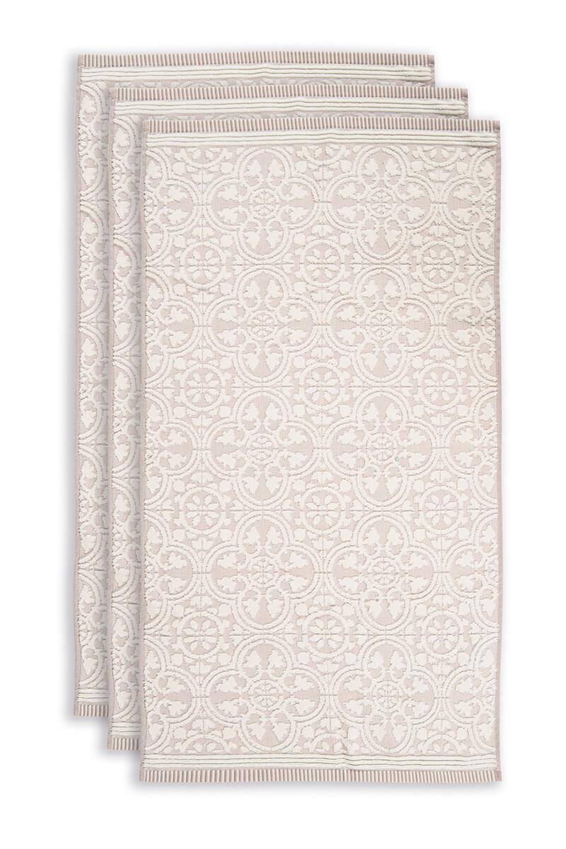 Color Relation Product Badhanddoek Set/3 Tile de Pip Khaki 55x100 cm