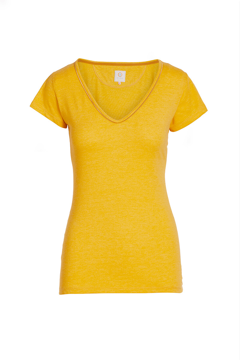 Color Relation Product Short Sleeve Melee Yellow