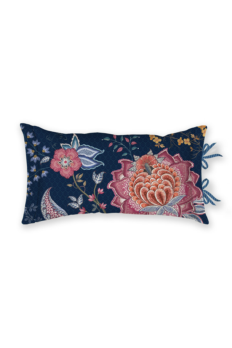 Color Relation Product Cushion Rectangle Tree of Life Dark Blue