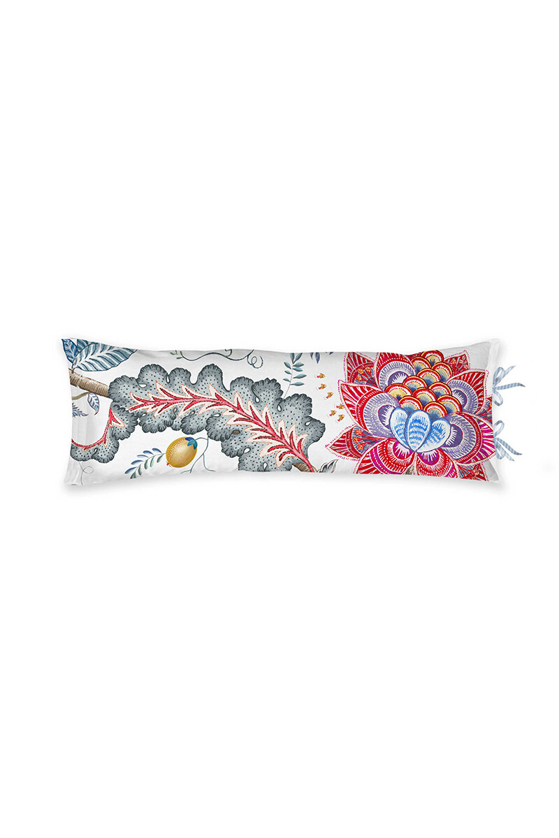 Color Relation Product Cushion Rectangle Long Tree of Life White