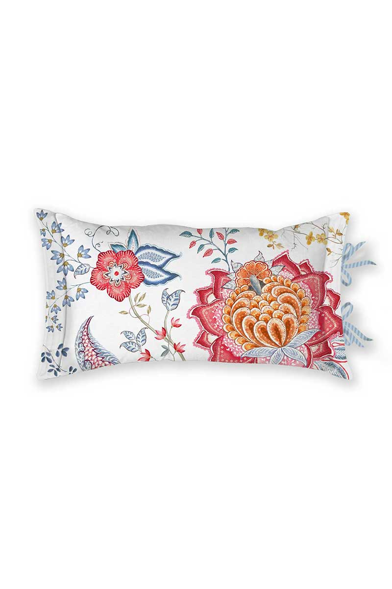 Color Relation Product Cushion Rectangle Tree of Life White