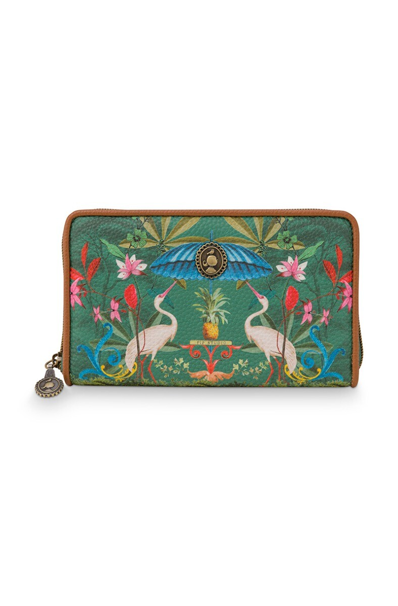 Color Relation Product Wallet Heron Homage Green
