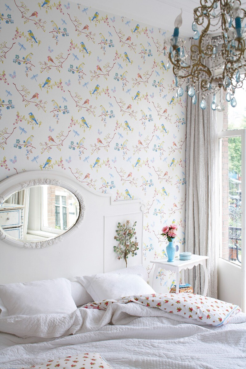 Color Relation Product Pip Studio Early Bird Wallpaper Off White