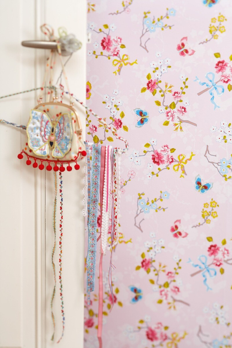 Color Relation Product Pip Studio Chinese Rose Wallpaper Light Pink