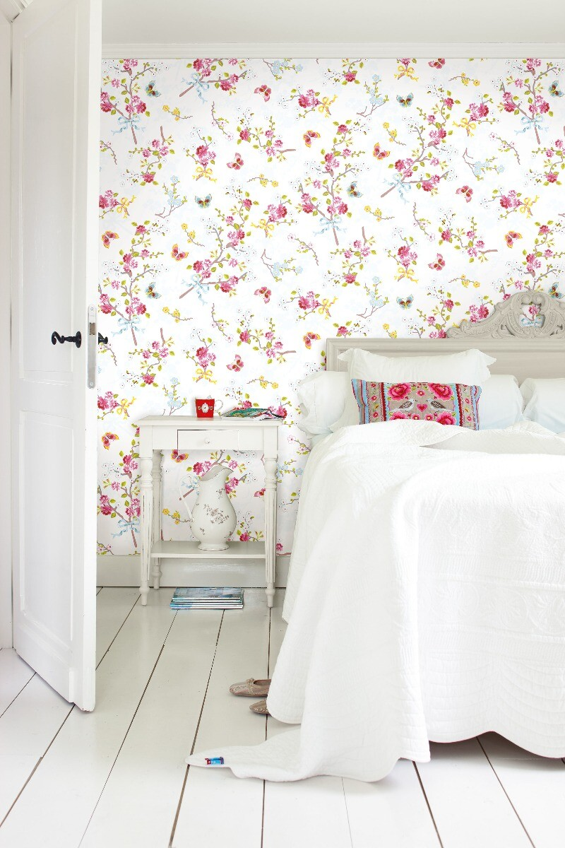 Color Relation Product Pip Studio Chinese Rose Wallpaper Off White