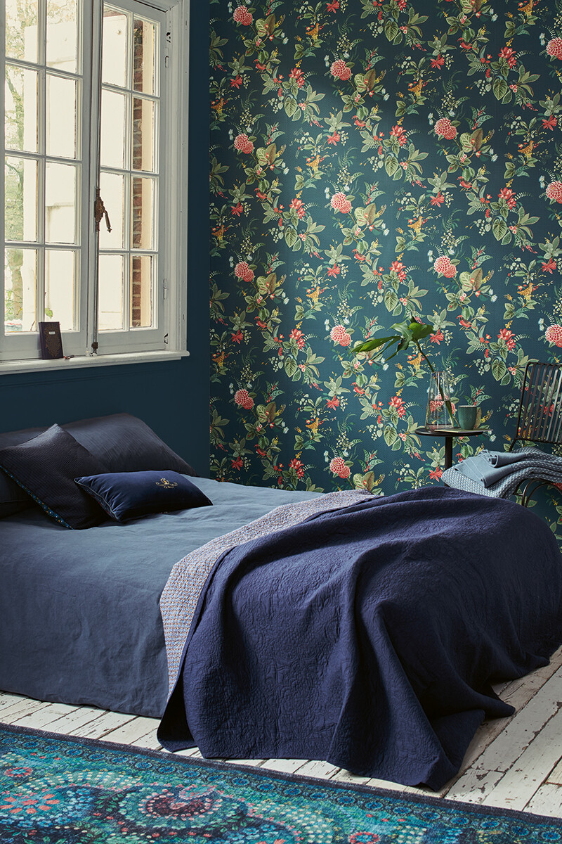 Color Relation Product Pip Studio Floris Tapete Dunkel Blau