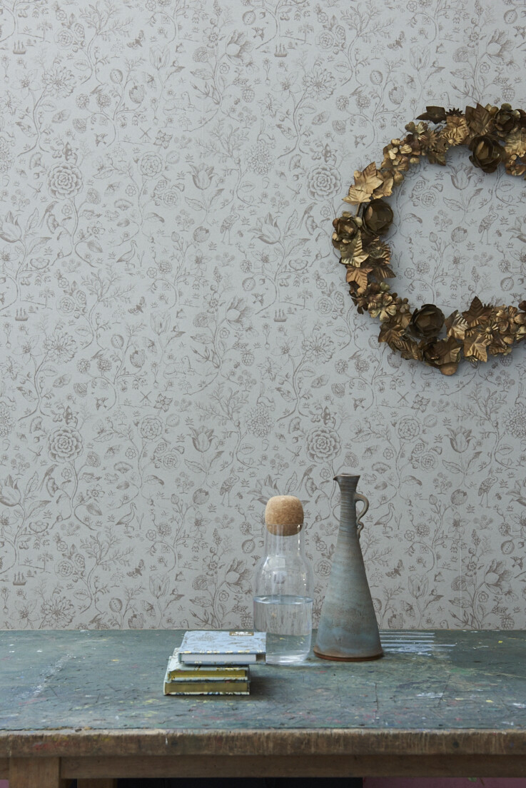 Color Relation Product Pip Studio Spring to Life Two Tone Wallpaper Khaki