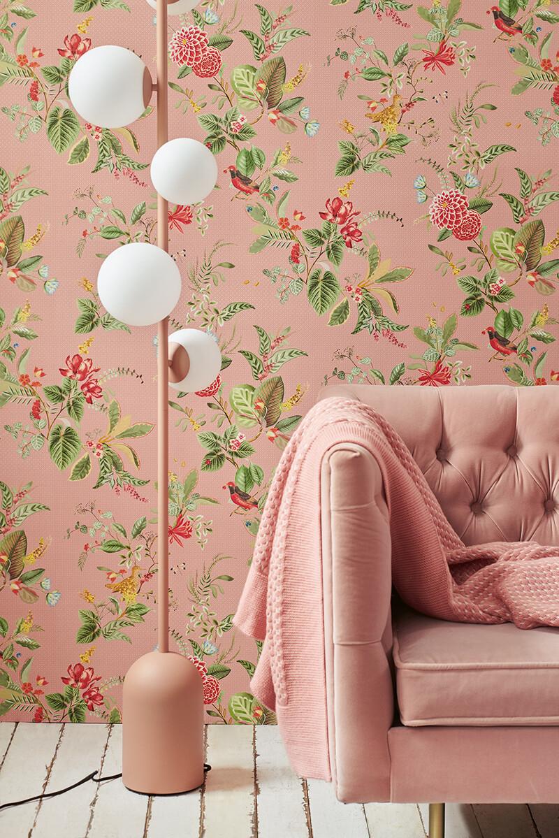 Color Relation Product Pip Studio Floris Behang Roze