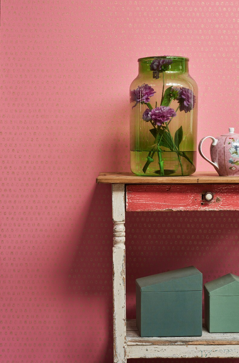 Color Relation Product Pip Studio Lady Bug Wallpaper Old Pink