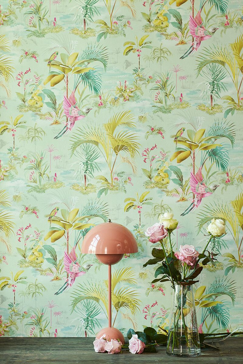 Color Relation Product Pip Studio Palm Scene Wallpaper Green