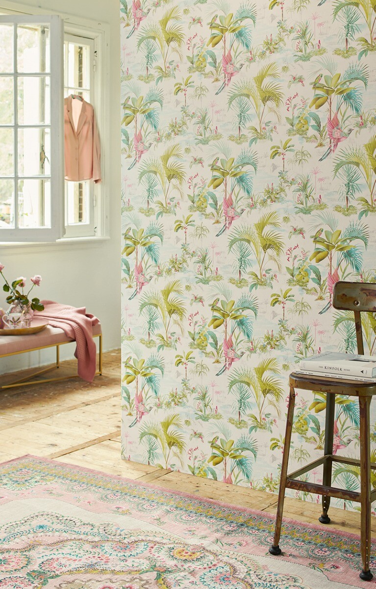 Color Relation Product Pip Studio Palm Scene Wallpaper White