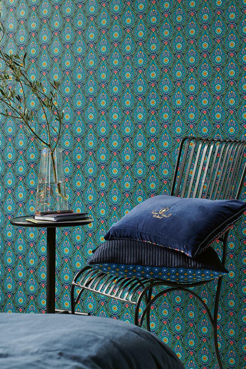 Color Relation Product Pip Studio Raindrops Wallpaper Dark Blue