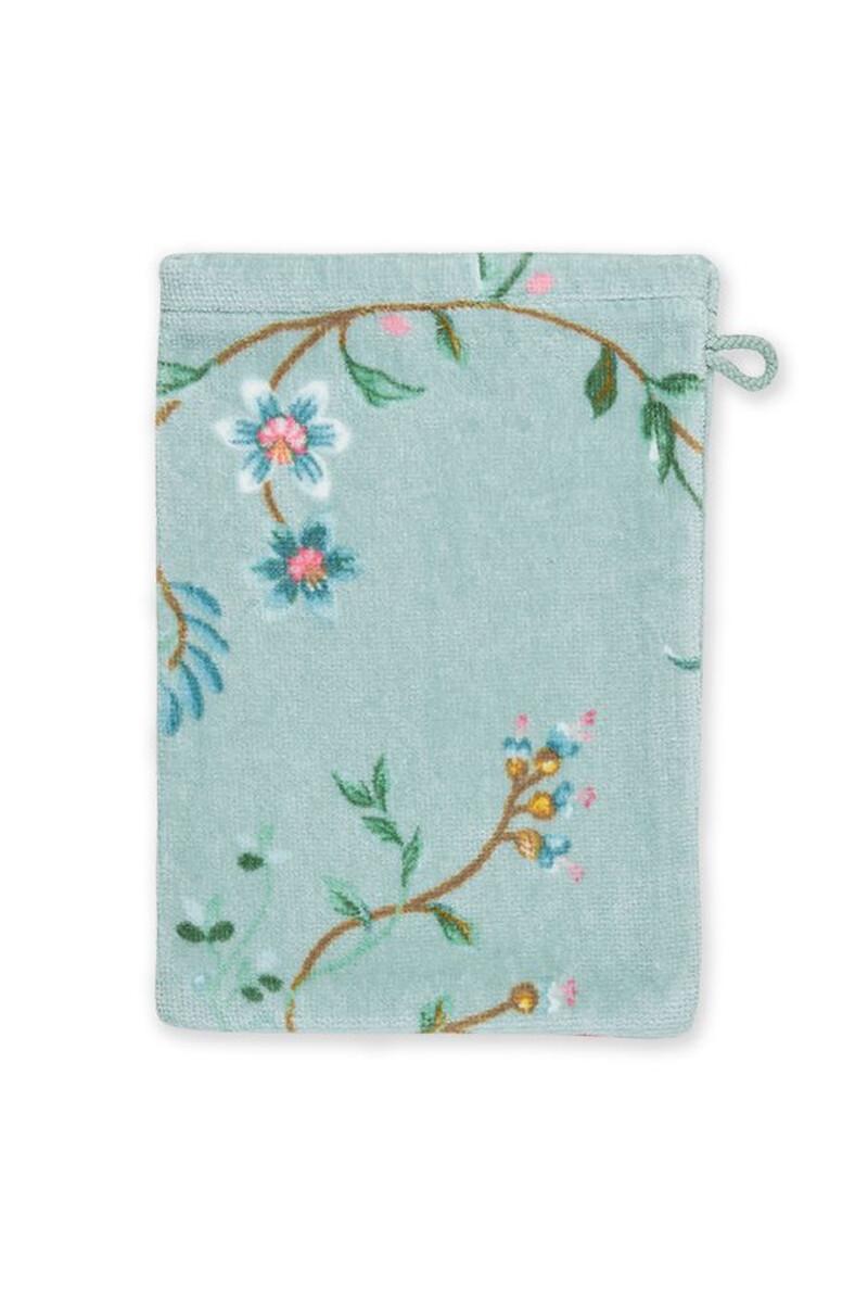 Color Relation Product Wash Cloth Les Fleurs Blue 16x22 cm