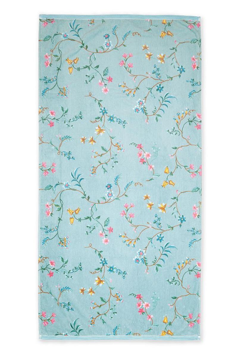 Color Relation Product XL Bath Towel Les Fleurs Blue 70x140 cm